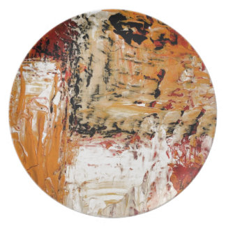 Abstract Expressionist Plate