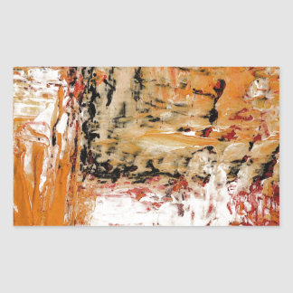 Abstract Expressionist Rectangular Sticker
