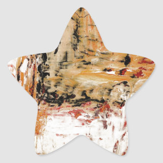 Abstract Expressionist Star Sticker