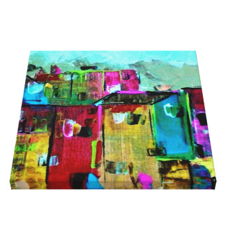 ABSTRACT EXPRESSIONISTIC HAITI HOUSE ART CANVAS CANVAS PRINT