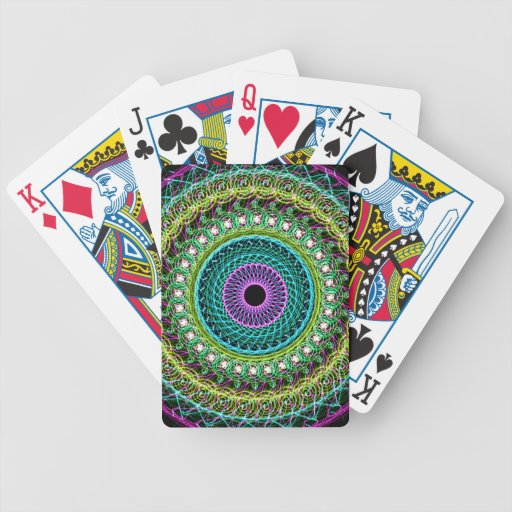 Abstract eye bicycle playing cards