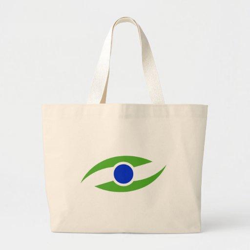 Abstract Eye Bobe Tote Bags