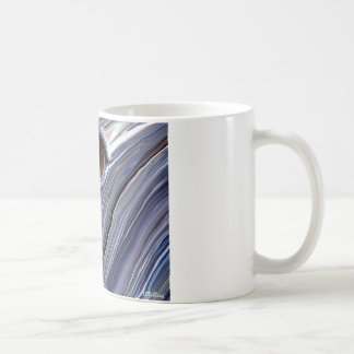 Abstract eye in wonderful colors of blues classic white coffee mug