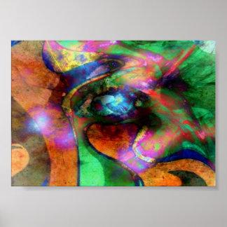 Abstract Eye Print