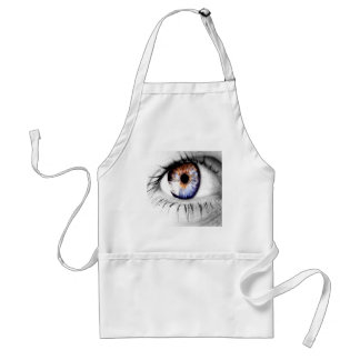 Abstract Eye Wide Open Adult Apron