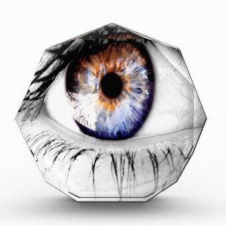Abstract Eye Wide Open Acrylic Award