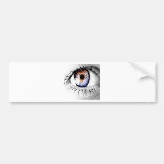 Abstract Eye Wide Open Bumper Sticker