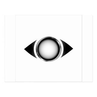 Abstract eye with 3d iris post card