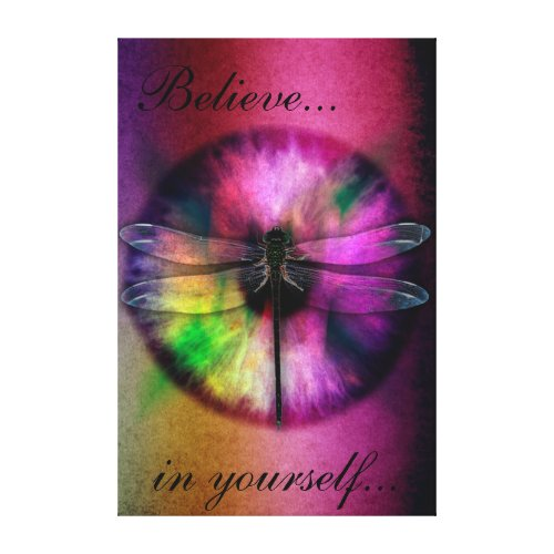 Abstract Eye with Dragonfly Canvas Print
