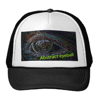 abstract eyeball mesh hat