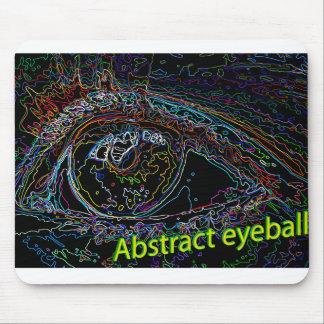 abstract eyeball mouse pad