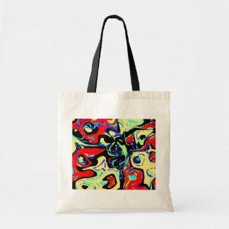 Abstract Eyes Canvas Bag
