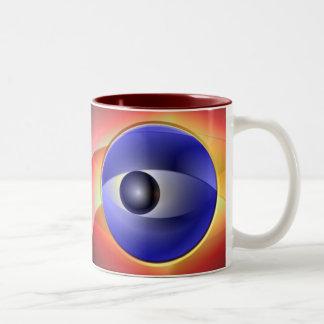Abstract Eyes Two-Tone Coffee Mug