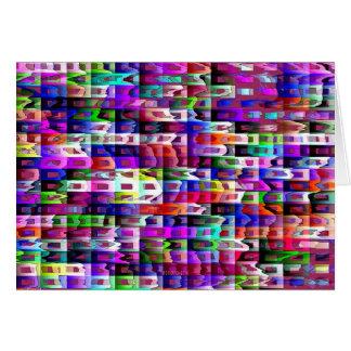 Abstract Eyestrain Card