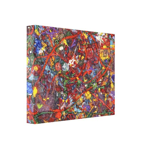 Abstract - Fabric Paint - Sanity Canvas Print | Zazzle