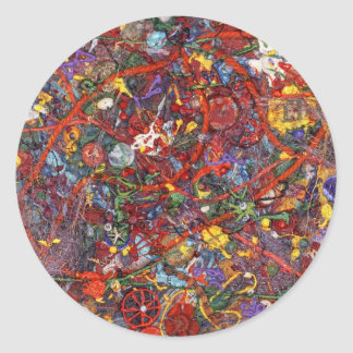 Abstract - Fabric Paint - Sanity Classic Round Sticker