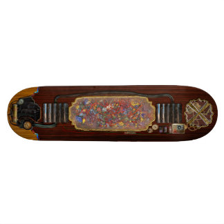 Abstract - Fabric Paint - Sanity Skateboard Deck