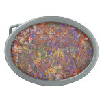 Abstract - Fabric Paint - String Theory Oval Belt Buckle