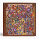 Abstract - Fabric Paint - String Theory 3 Ring Binder