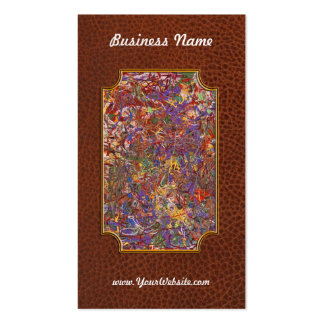 Abstract - Fabric Paint - String Theory Business Card Template