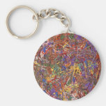 Abstract - Fabric Paint - String Theory Keychains