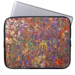 Abstract - Fabric Paint - String Theory Laptop Computer Sleeve