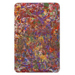Abstract - Fabric Paint - String Theory Rectangle Magnets
