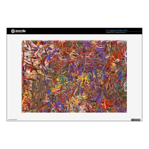 Abstract - Fabric Paint - String Theory Skins For Laptops