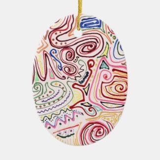 Abstract - Fabric Paint - Urban Society Christmas Tree Ornament