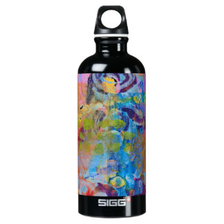 Abstract Fabric Print Aluminum Water Bottle