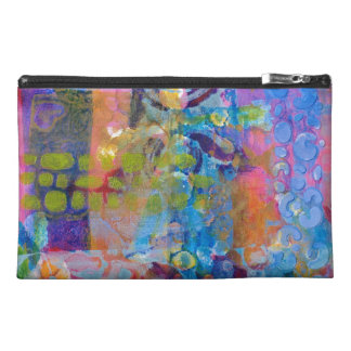 Abstract Fabric Print Travel Accessories Bags