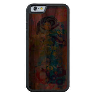 Abstract Fabric Print Carved Walnut iPhone 6 Bumper Case