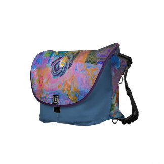 Abstract Fabric Print Courier Bags