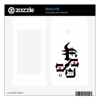 Abstract Face Decal For The Nokia N8