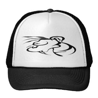 Abstract Face Tribal Tattoo Trucker Hat
