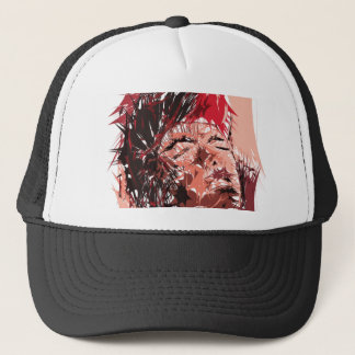 Abstract Face Trucker Hat