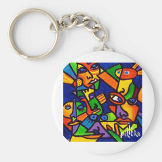 Abstract Faces 4 by Piliero Keychain