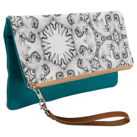 Abstract faces clutch