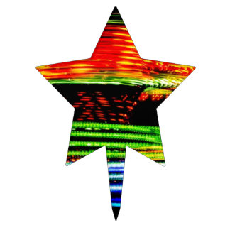 Abstract Fairground Light Painting Cake Topper