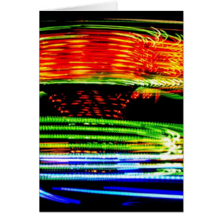 Abstract Fairground Light Painting Card
