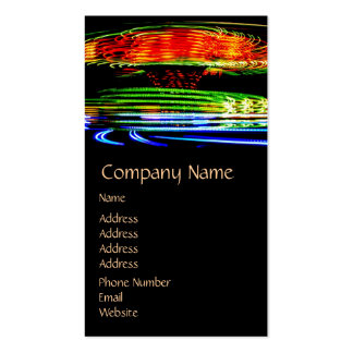 Abstract Fairground Light Painting Double-Sided Standard Business Cards (Pack Of 100)