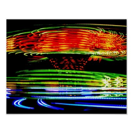 Abstract Fairground Light Painting Print