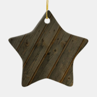 Abstract Fake Wood Grain Ceramic Ornament