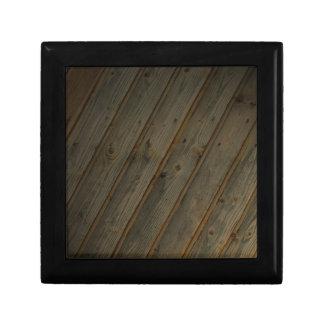 Abstract Fake Wood Grain Gift Box