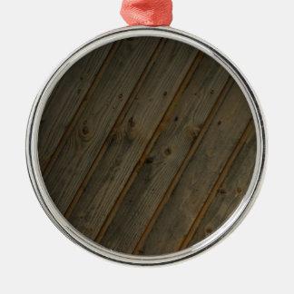 Abstract Fake Wood Grain Christmas Ornament