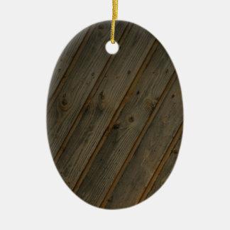 Abstract Fake Wood Grain Christmas Tree Ornaments