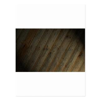 Abstract Fake Wood Grain Postcard