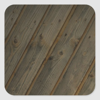 Abstract Fake Wood Grain Square Sticker