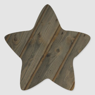 Abstract Fake Wood Grain Star Sticker