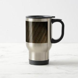 Abstract Fake Wood Grain Travel Mug